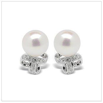 Zosima a Japanese Akoya Cultured Pearl Earrings