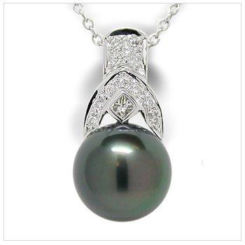 Mistico a Black Tahitian Cultured Pearl Pendant