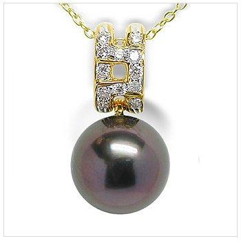 Phila a Black Tahitian Cultured Pearl Pendant