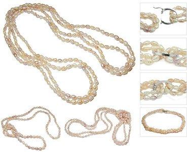 Biwa Pink Freshwater Pearl Necklace