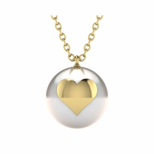 Emoji Pearl Heart Necklace