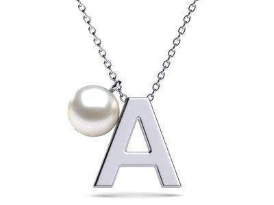 Alphabet Pearl Necklace Pendant