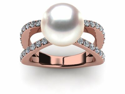 Cultured Pearl Rings