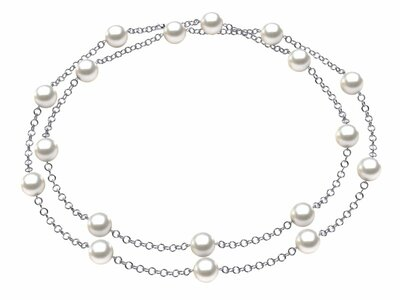 White South Sea Tin Cup Necklaces
