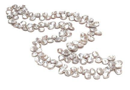 AAA  11 x 15mm Keshi Shape Pearl Necklace