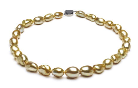 Golden Pearl Necklace Serial Number   9-4mm-12-7mm-golden-pearl-necklace-keshi-south-sea-true-aaa-16inch-s5-kys1021-b143