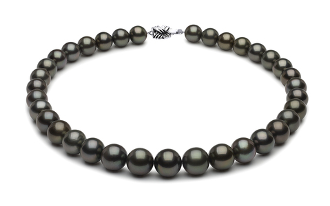 12 x 14.4mm Tahitian Pearl Necklace   Serial Number s8-xb03210-b461