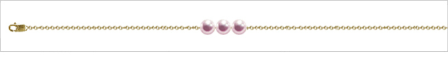 AAA Quality Add Pearl Necklaces—3 Pearl