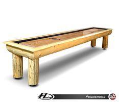 Hudson Ponderosa Log Style Rustic Shuffleboard Table