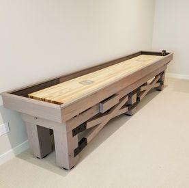 9' Champion Rustic Shuffleboard Table
