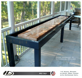 18' Hudson Metro Shuffleboard Table