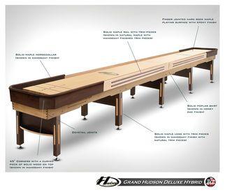 20' Grand Hudson Deluxe Hybrid Shuffleboard Table