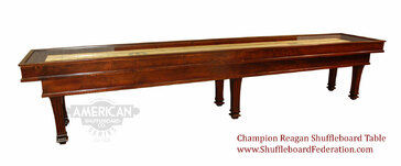 12' Champion Reagan Shuffleboard Table