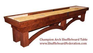 14' Champion Arch Shuffleboard Table
