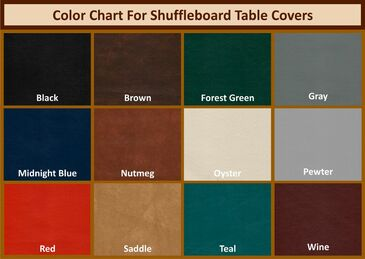 Custom Size Shuffleboard Table Covers - Please measure your Shuffleboard Table carefully before ordering a Custom Shuffleboard Table Cover. These items are completely custom made, and cannot be returned for any reason.