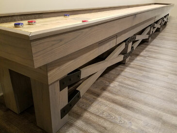 22' Champion Rustic Shuffleboard Table