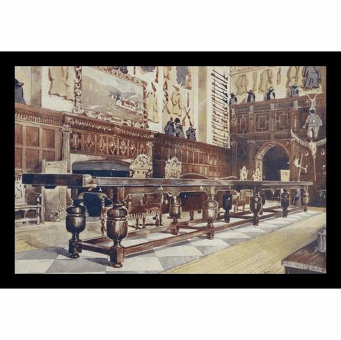 "Olde English Shuffleboard Table 12"" x 18"" Framed Print"