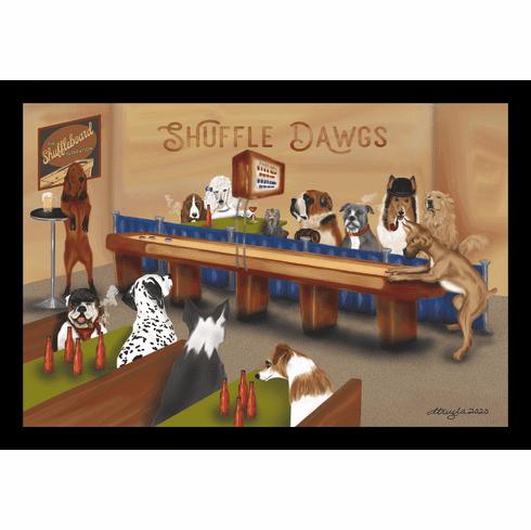 "Shuffle Dawgs 12"" x 18"" Framed Print"