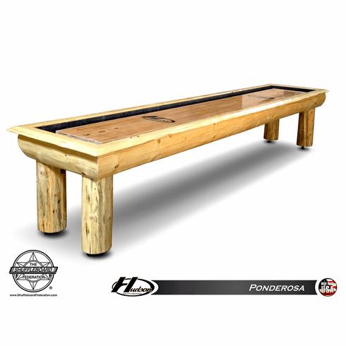 12' Hudson Ponderosa Log Style Shuffleboard Table