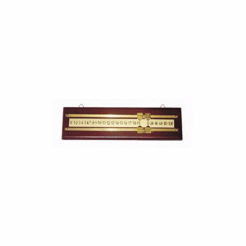Manual Score Keeper - Wood With Mahogany Finish