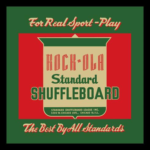 "Play Rock-Ola Shuffleboard 12"" x 12"" or 16"" x 16"" Framed Print"