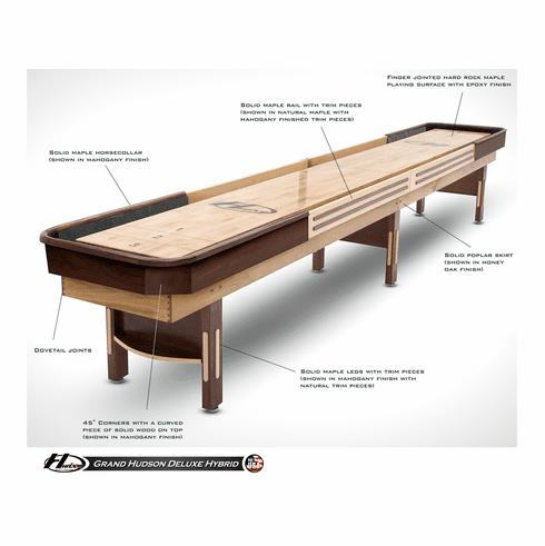 12' Grand Hudson Deluxe Hybrid Shuffleboard Table