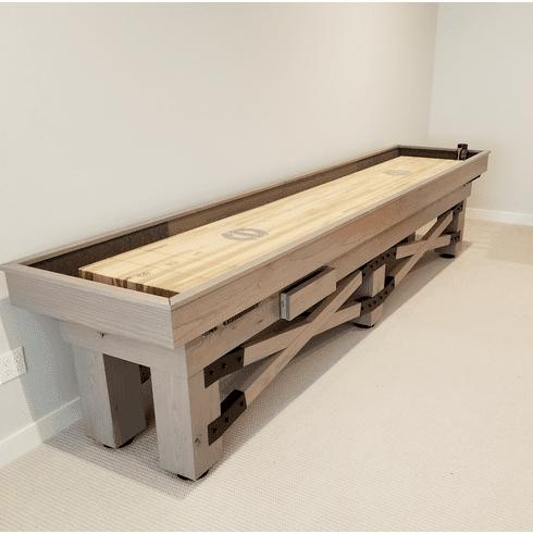 14' Champion Rustic Shuffleboard Table
