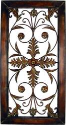 Decorative Wrought Iron Wall Plaque