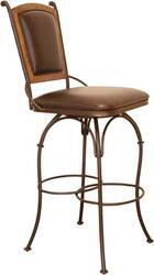 Valencia Swivel Leather Bar Stool