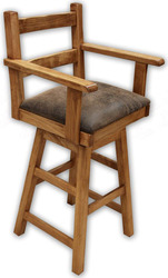 Sierra Rustic Lodge Swivel Arm Barstool