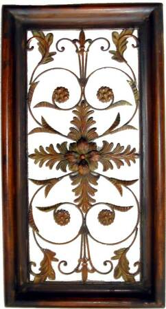 Decorative Wrought Iron Wall Plaque #4