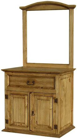 rustic bathroom vanity w mirror frame