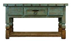 "Aspen Antique Turquoise 64"" Console Table"