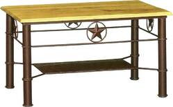 Star Iron Rectangular Coffee Table