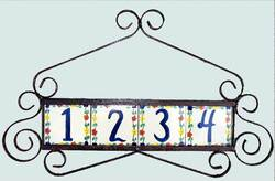 Wrought Iron Address Plaque