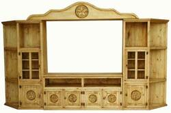 Santa Monica Pine Wood Entertainment Center W/ Stars