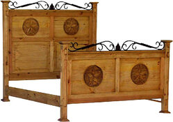 Hacienda Star Wood Bed