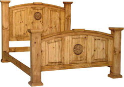 Santa Fe Rustic Star Mansion Bed