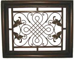 Decorative Wrought Iron Wall Plaque #2
