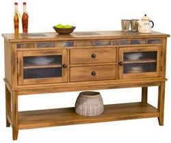 Arizona Rustic Oak Buffet Server