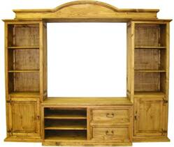 Sierra Large Rustic Pine Wall Unit