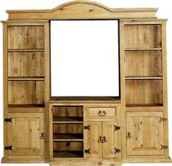 Sierra Rustic Media Wall Unit