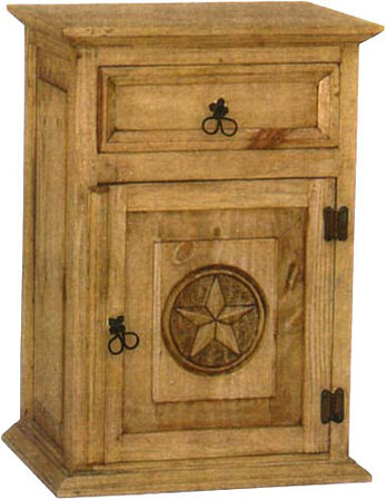 Rustic Star Night Stand R