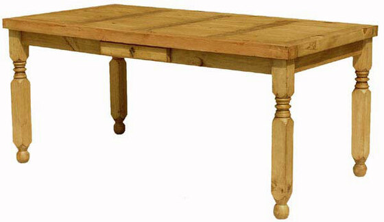 Lyon Rustic Pine Dining Table