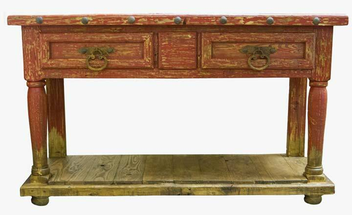Antique Red Console Table Antique Red Sofa Table