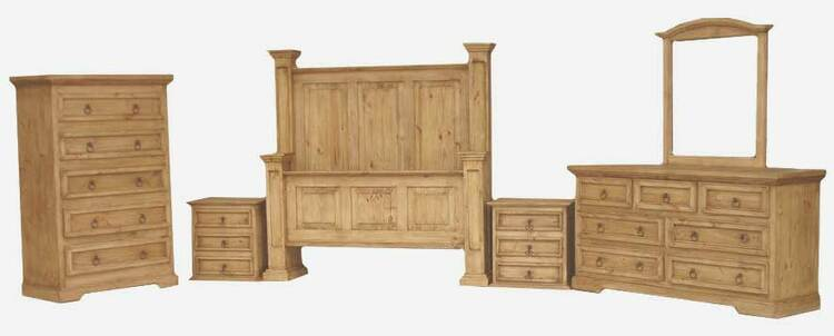 Laredo Rustic Bedroom Furniture Set