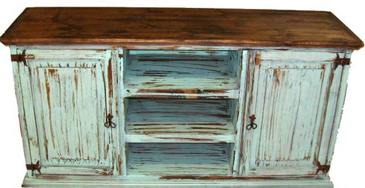 "San Carlos Antique Turquoise 60"" TV Stand"