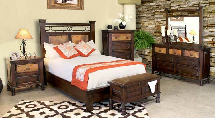 Cordoba Copper Bedroom Furniture Set