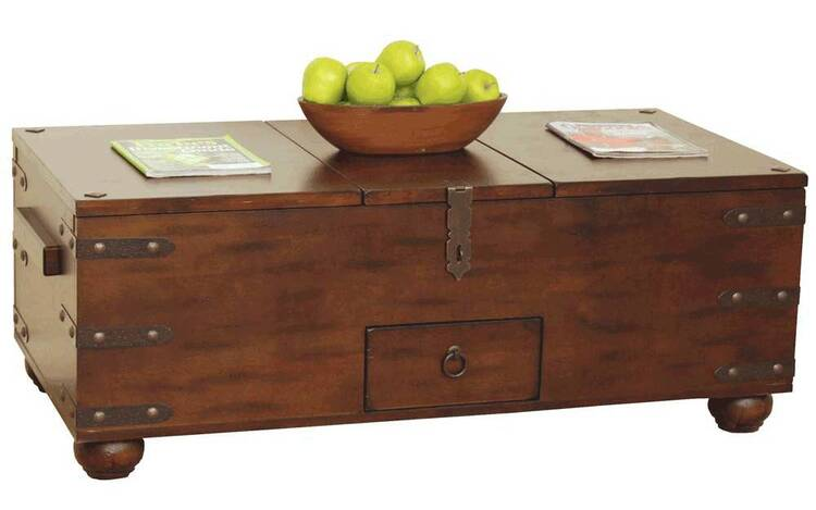 distress trunk coffee table coffee table storage. Black Bedroom Furniture Sets. Home Design Ideas