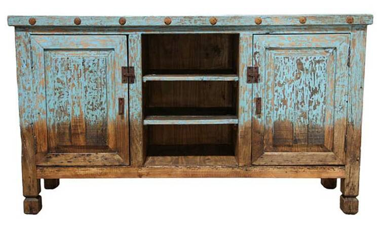 Painted Turquoise Tv Stand Antique Tv Stand